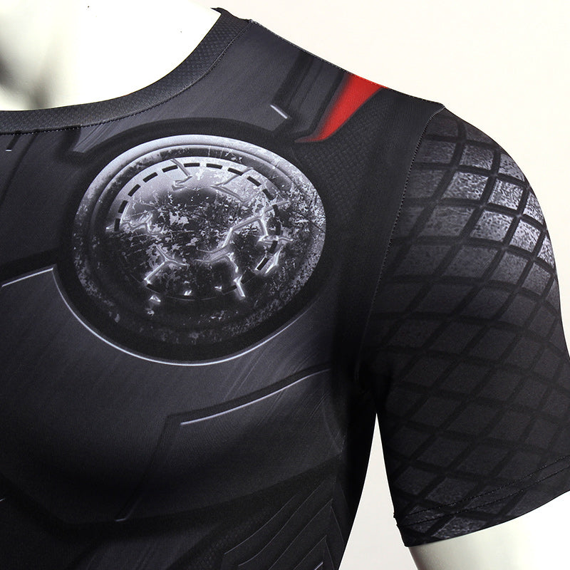 Infinity Shirt Men's Thor 3D Printed Short Compression Crossfit Top T-Shirt 2018