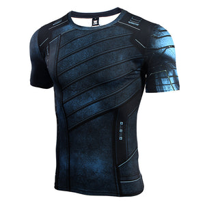 Infinity Shirt Men's Winter Soldier 3D Printed Short Compression Crossfit Top T-Shirt 2018