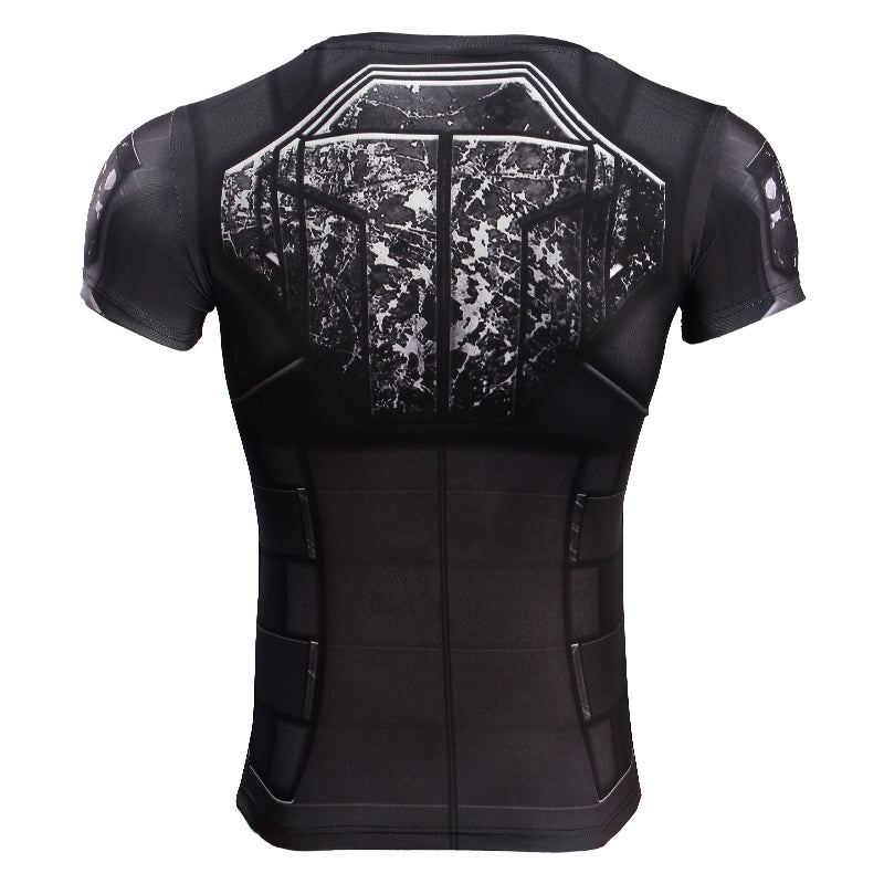 Infinity Shirt Women Black Widow 3D Printed Short Compression Crossfit Top T-Shirt 2018