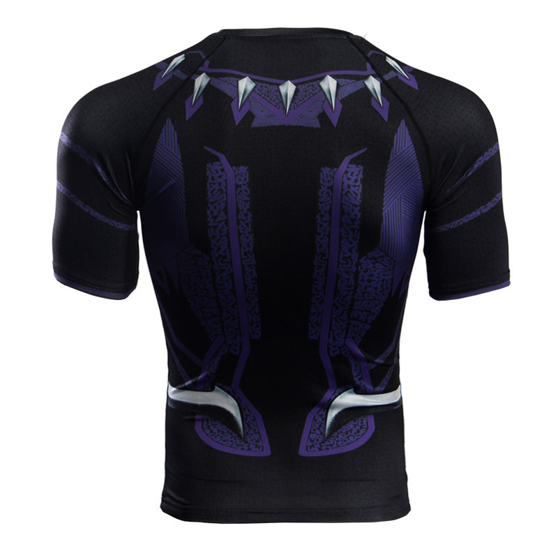 Infinity War Shirt Men's Black Panther 3D Printed Short Sleeve Compression Crossfit Tops Shirt 2018