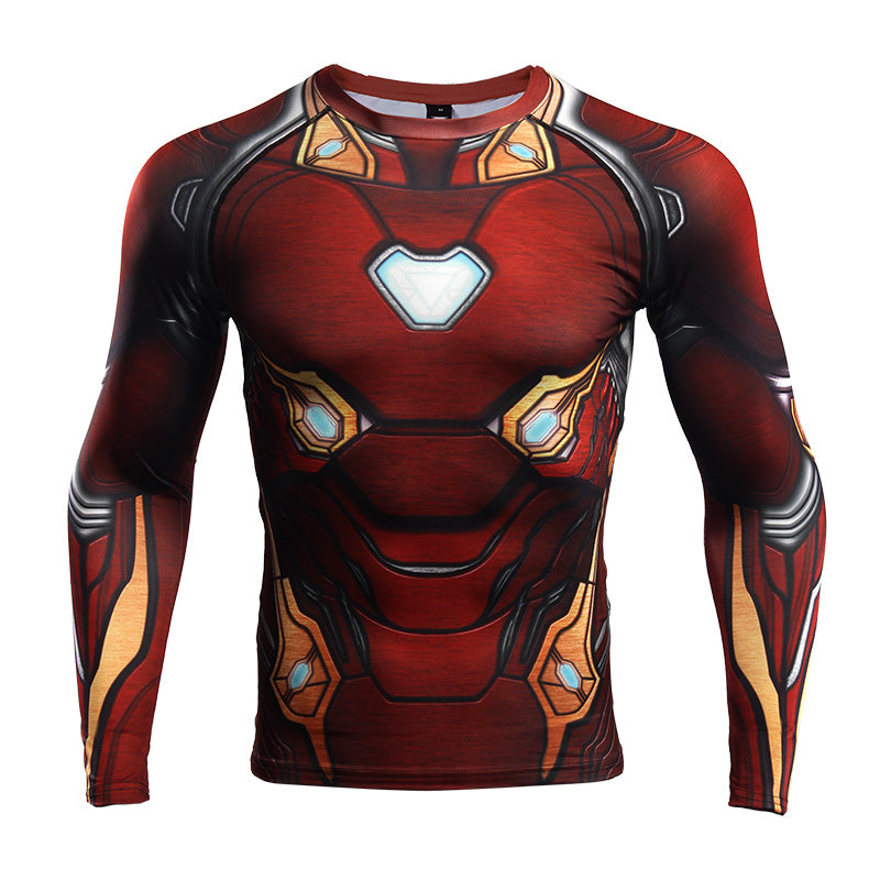 Infinity War Shirt Men's Iron Man 3D Printed Long Sleeve Compression Shirt 2018