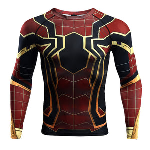 a23370397d6dbc Infinity War Shirt Men's Spiderman 3D Printed Long Sleeve Compression  Crossfit Tops Shirt 2018