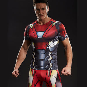 Iron Man Men's Ironman 3D Printed Compression Shirt 2018