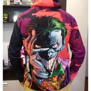 Joker Movie Hoodie Haha Joker Art with Bow Cosplay Costume 2019