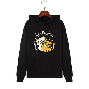 Just Be Nice Ladies Cat Hoodies Sweatshirt