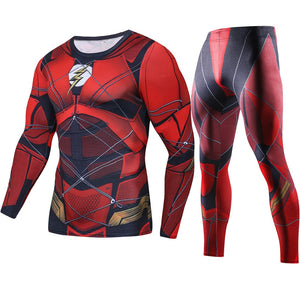 Justice League Flash Cosplay Long Set Costume for Men