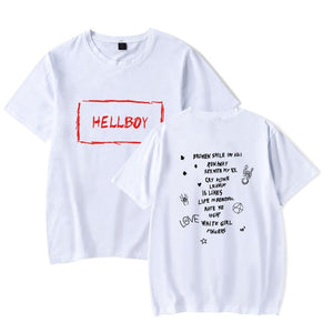 Lil Peep Hellboy T Shirts Men Short Sleeves Soft Cotton for Lil Peep Fans Clothes