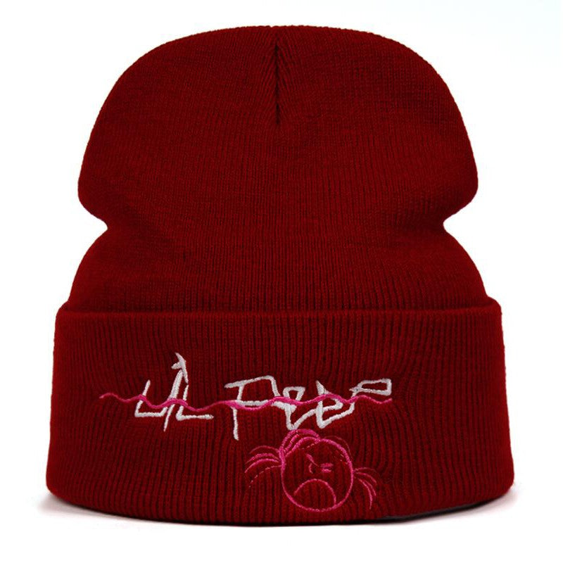Lil Peep Crybaby Beanie Embroidery Unisex Love lil.peep Knit Cap