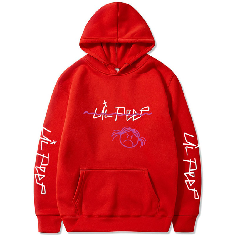 Lil Peep Fashion Pink Sweatshirt Hip Hop Hoodies Love