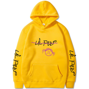 Lil Peep Sweatshirt Yellow Hip Hop Hoodies Love