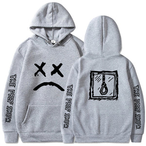 Lil Peep Sweatshirts Love Lil.Peep Cry Baby Hoodies Gray