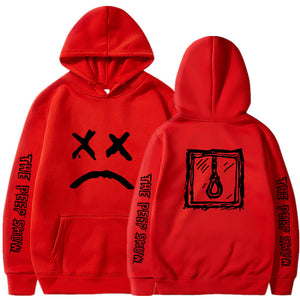 Lil Peep Love Sweatshirts Lil.Peep Cry Baby Hoodies Red