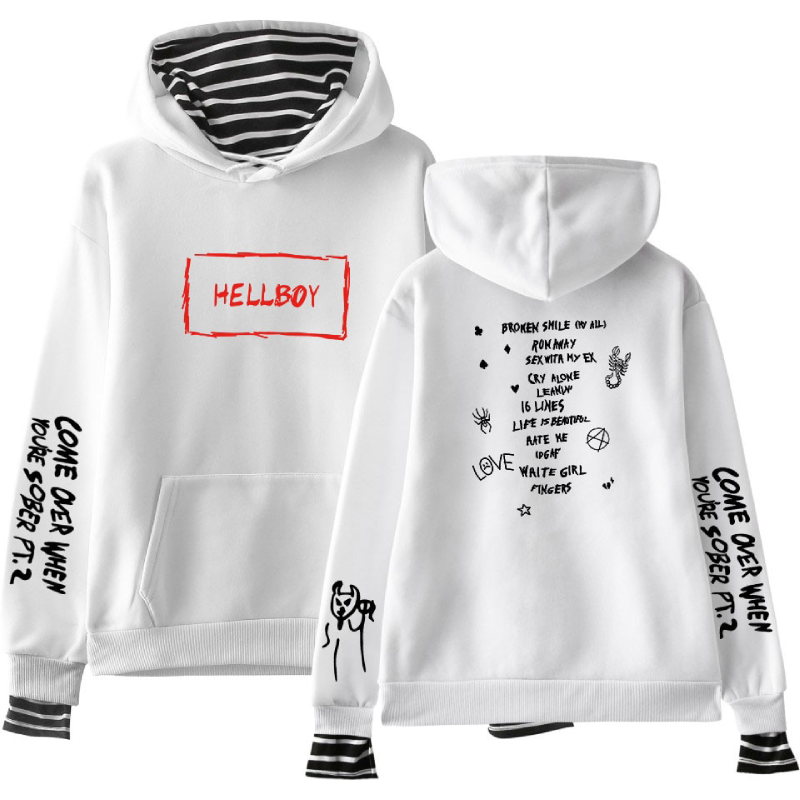 Lil Peep Hellboy Hoodie Two Pieces Hellboy Youth Sweatshirt
