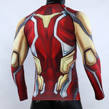 Avengers 4 Iron Man MK85 3D Printed Shirts Avengers Endgame Long Compression Shirt