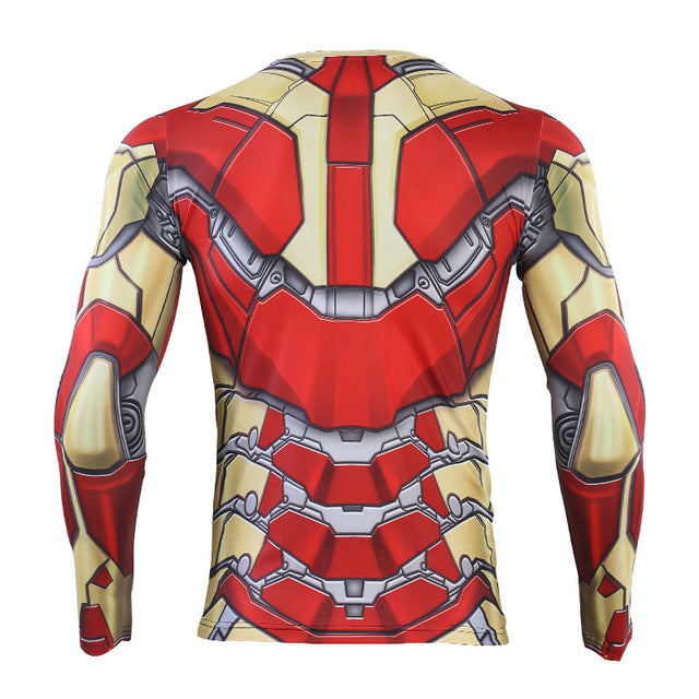MK42 Iron Man 3D Printed Avengers Compression Shirt