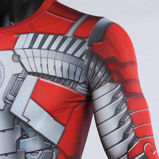 MK5 Iron Man 3D Printed Long Sleeve Avengers Compression T-shirt