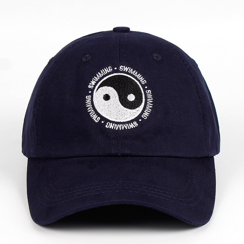 Mac Miller Dad Baseball Cap 100% Cotton Yin Yang Gossip Embroidered Swimming Hat