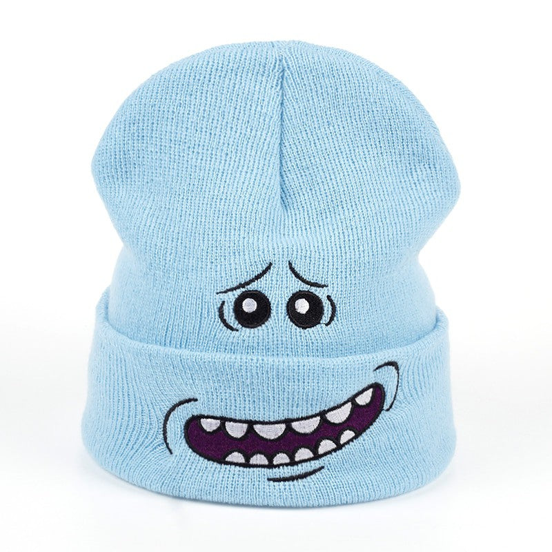 Mr. Meeseeks Blue Beanie Caps Rick and Morty Winter Knitted Hats