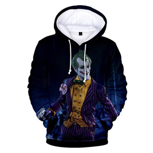Joker With Girlfriend Harley Quinn 3d Hoodie Cosplay Costume 2019