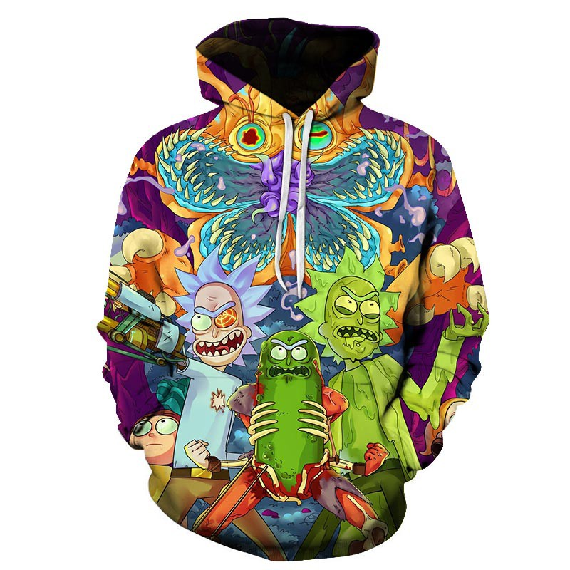 Pickle Rick and Morty 3D Hoodies Sweater