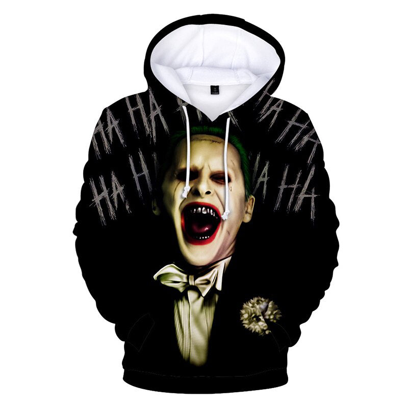 Joker Hoodie Red Haha Joker Cosplay Costume 2019