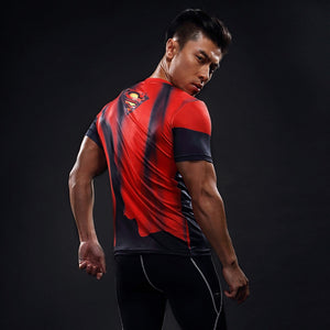 Red Superman Compression Shirt