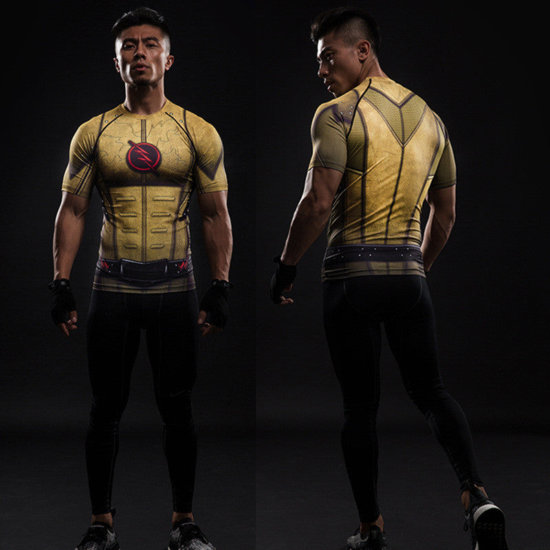 Reverse Flash Compression Shirt (Short Sleeve 3d Tshirt)