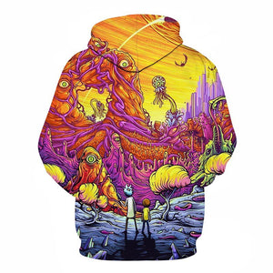 Rick and Morty Alien 3D Printed Hoodies Pullover Sweatshirt