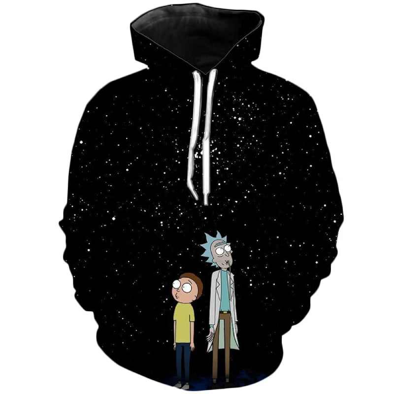 Rick and Morty Night Sky Hoodie 3D Unisex Sweatshirt