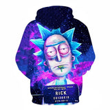 Rick and Morty Interdimensional Space Police Dept 3D Hoodies Sweater