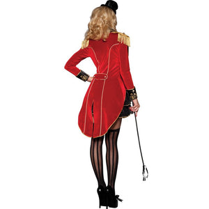 Ringmaster Jacket Womens Sexy Ring Mistress Costume Magician Fancy Dress