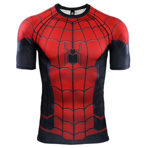Spider Man Far From Home 3D Short Sleeve Cosplay Costume Avengers Shirt