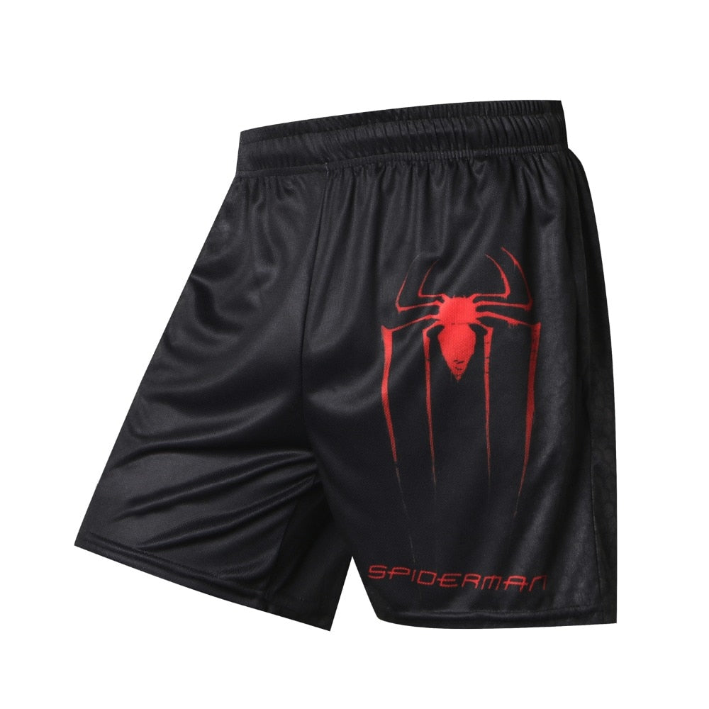 Spiderman Compression Shorts Quick Dry