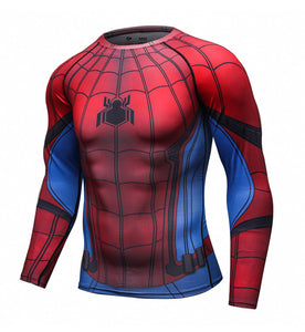 Spiderman Long Sleeve Compression Shirt (Spiderman 3D Tshirts)