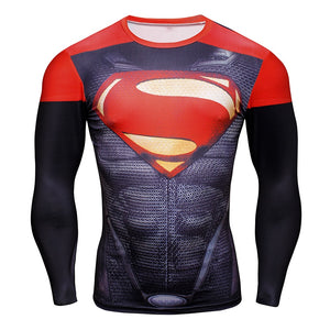 Superman Cosplay Long Set Costume for Men