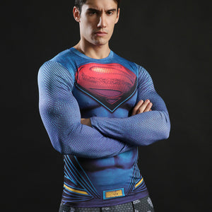 Superman Compression Shirts Long Sleeve (3d Tshirts)