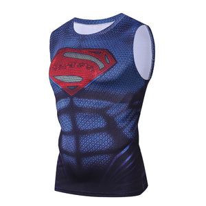 Superman Red Logo Bodybuilding Fitness Compression Tank Top