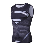 Superman gym compression tank top