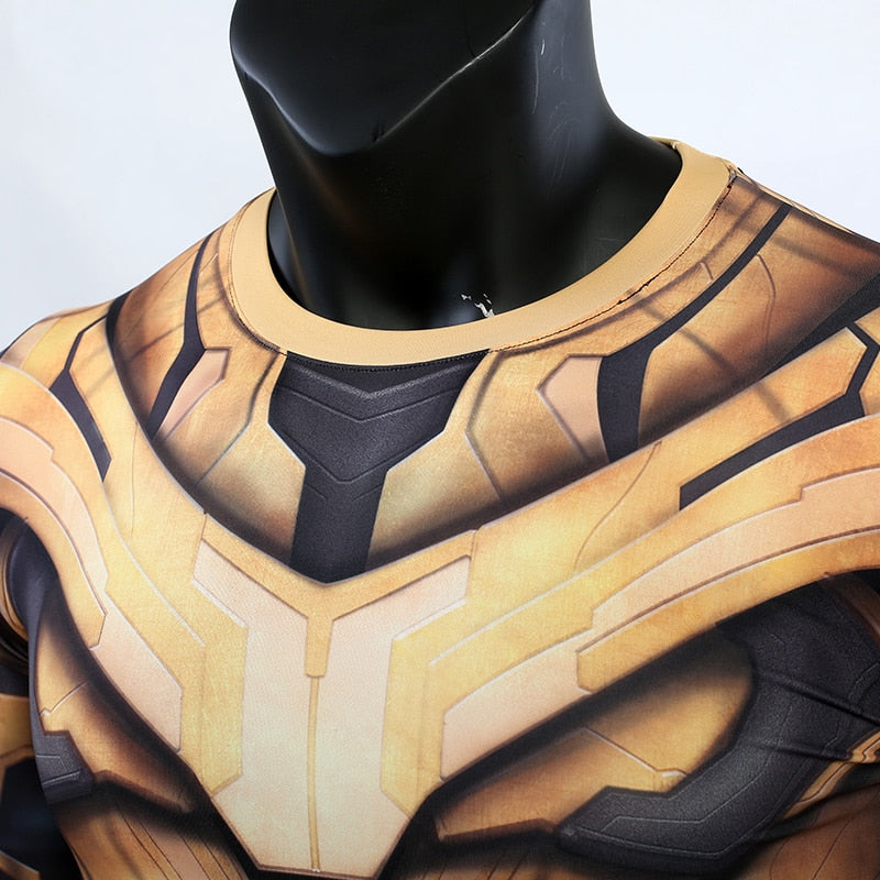 Thanos 3D Printed Men Avengers 4 Endgame Long Compression Shirt 2019