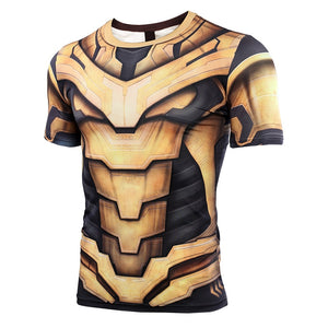 Thanos Endgame 3D Men Avengers 4 Endgame Short Compression Shirt