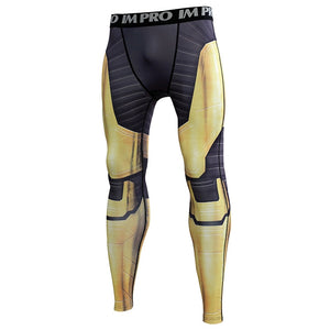 Thanos Avengers 4 Endgame 3D Printed Compression Tights Pants Men 2019