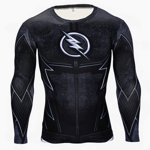 The Flash Black Panther Long Sleeve Compression Shirt