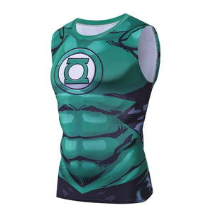 The Green Lantern 3D Bodybuilding Fitness Compression Tank Top