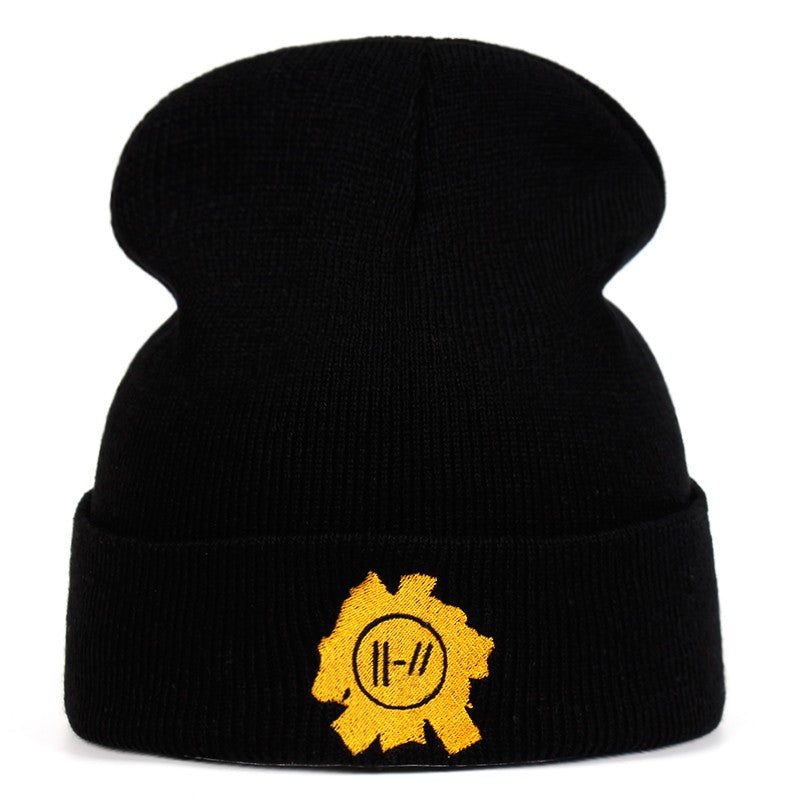 Twenty One Pilots Beanie Cap embroidery Rock Band Knitted Hat