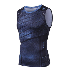 Winter Soldier 3D Printed Gym compression Tank Top