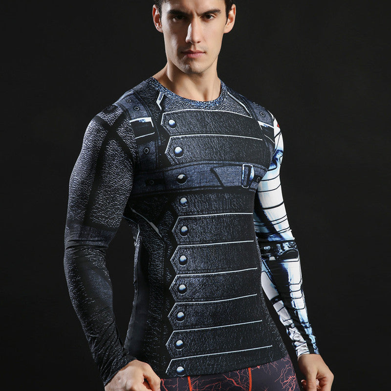 Winter Soldier Long Sleeve Compression Shirt (Winter Soldier 3d Tshirts) - Newmeup