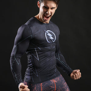Zoom Long Sleeve Compression Shirt (Zoom 3d Tshirts) - Newmeup