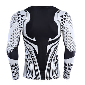 Black Aquaman Shirt Men's Aquaman 3D Long Sleeve Compression Crossfit Top T-Shirt 2018
