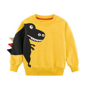 Little Dinosaur Kids Hoodie Baby Boys Dinosaur Print Sweatshirts New model for Child