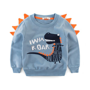Cute Dinosaur Clothes Children Cartoon Dinosaur Sweatshirt Pullover Dino Long Sleeve Sweater